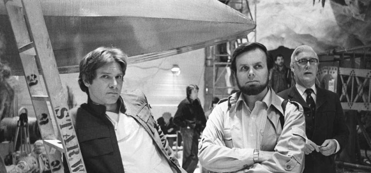 Harrison-Ford-and-producer-Gary-Kurtz-on-the-set-of-The-Empire-Strikes-Back